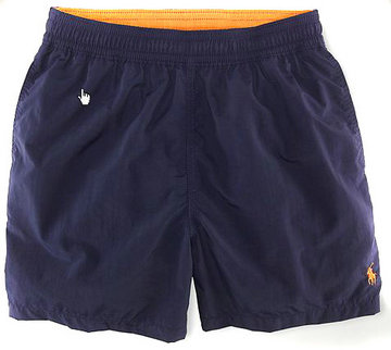 ralph lauren short de bain mode-blue blance